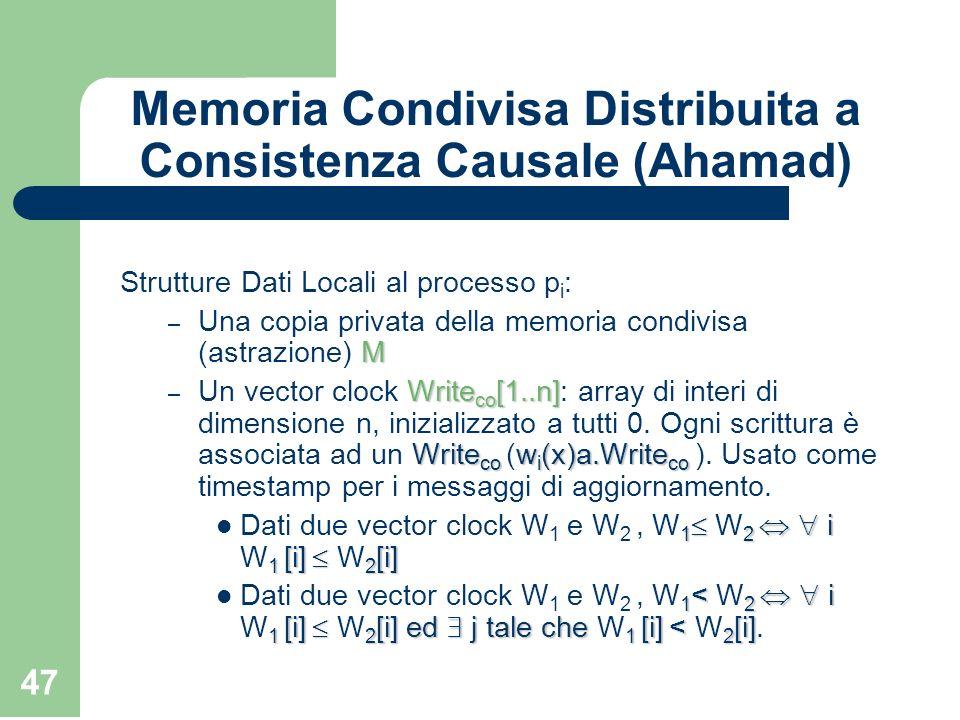 Memoria Condivisa Distribuita a Consistenza Causale (Ahamad)