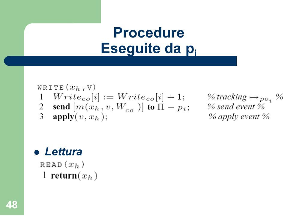 Procedure Eseguite da pi