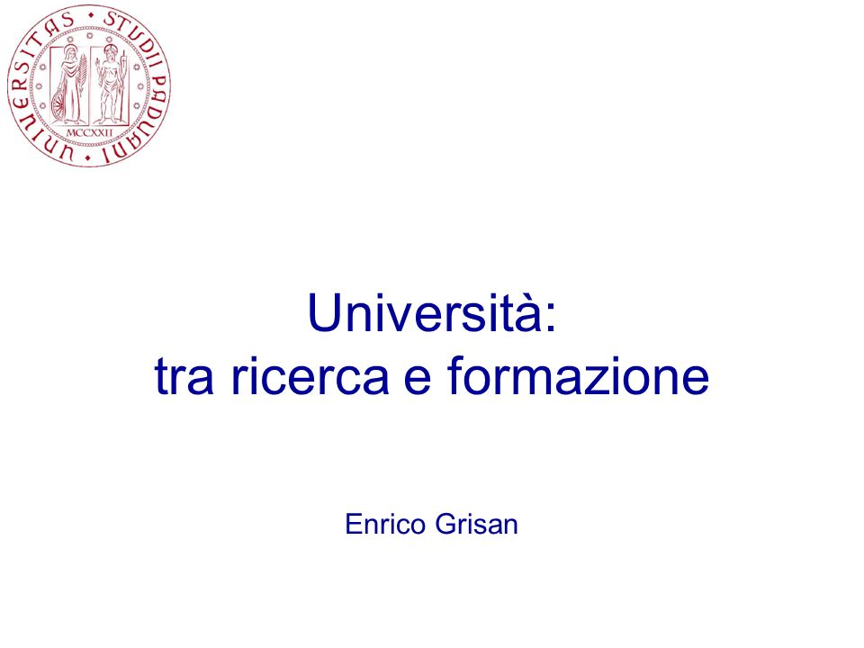 Università: tra ricerca e formazione