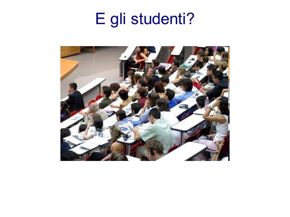 E gli studenti