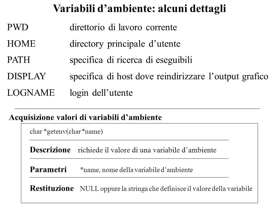 Variabili d'ambiente: alcuni dettagli
