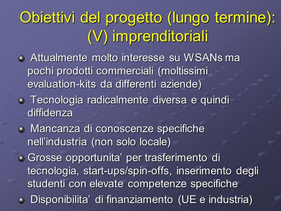 Obiettivi del progetto (lungo termine): (V) imprenditoriali