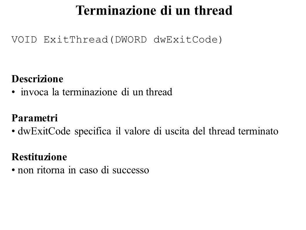 Terminazione di un thread