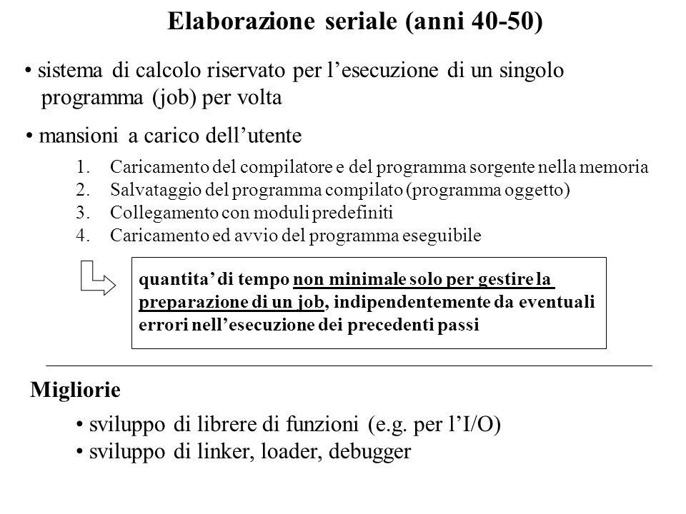 Elaborazione seriale (anni 40-50)