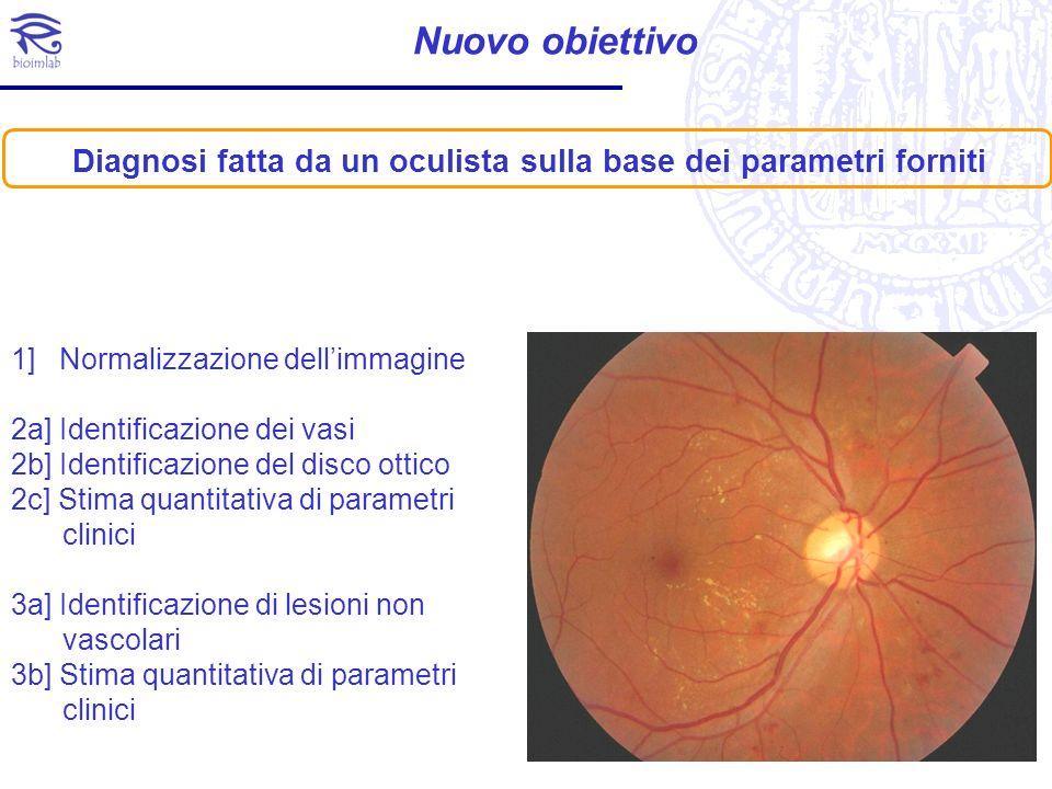 Diagnosi fatta da un oculista sulla base dei parametri forniti