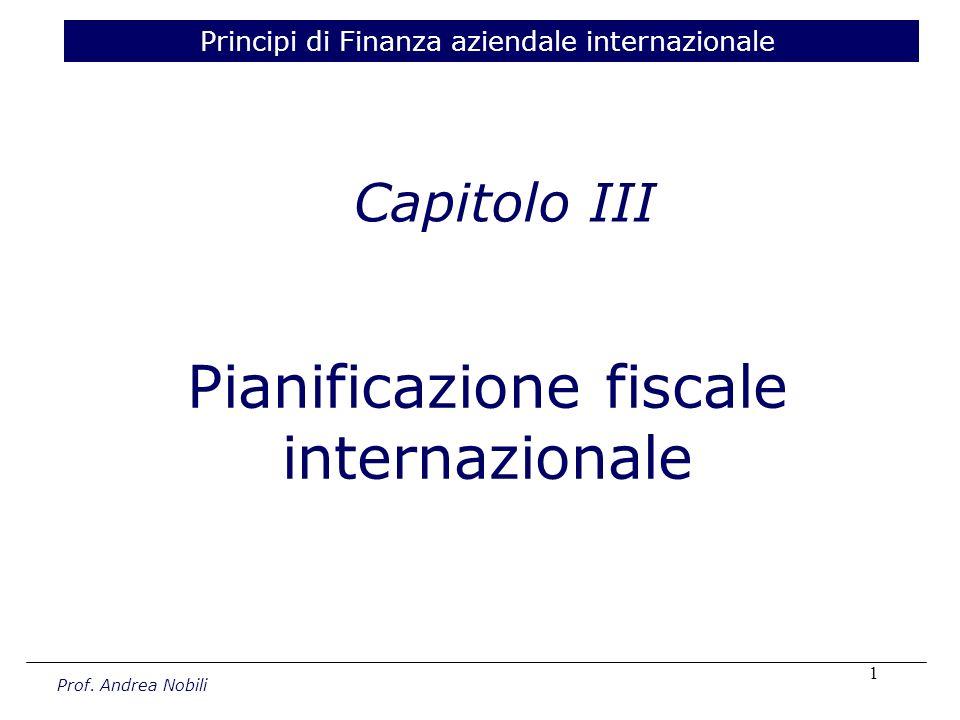 Pianificazione fiscale internazionale