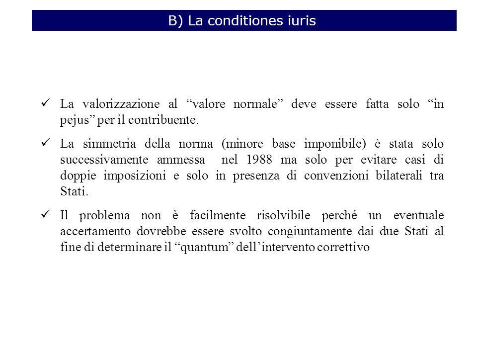 B) La conditiones iuris