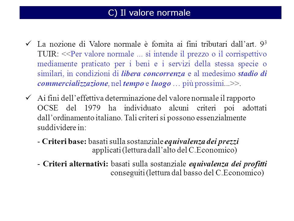 C) Il valore normale