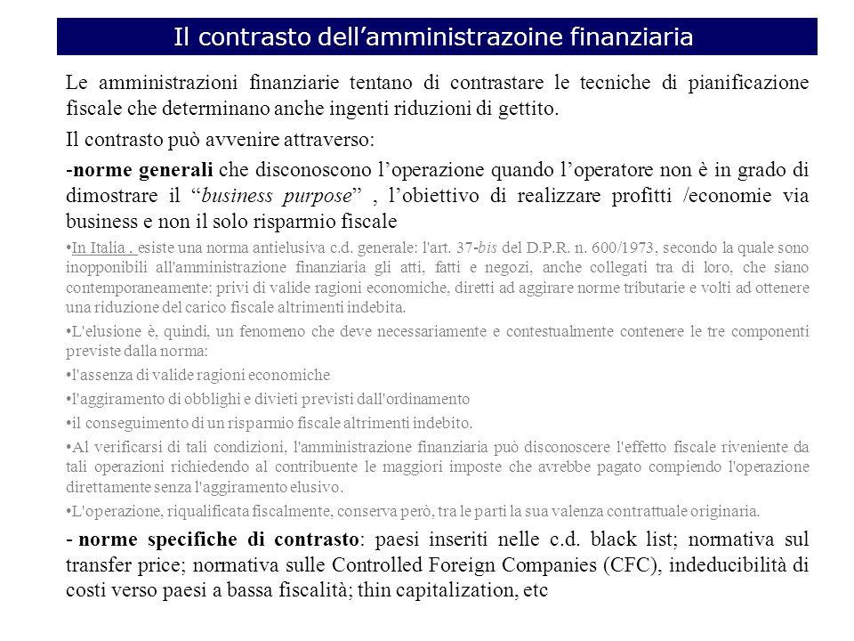 Il contrasto dell'amministrazoine finanziaria
