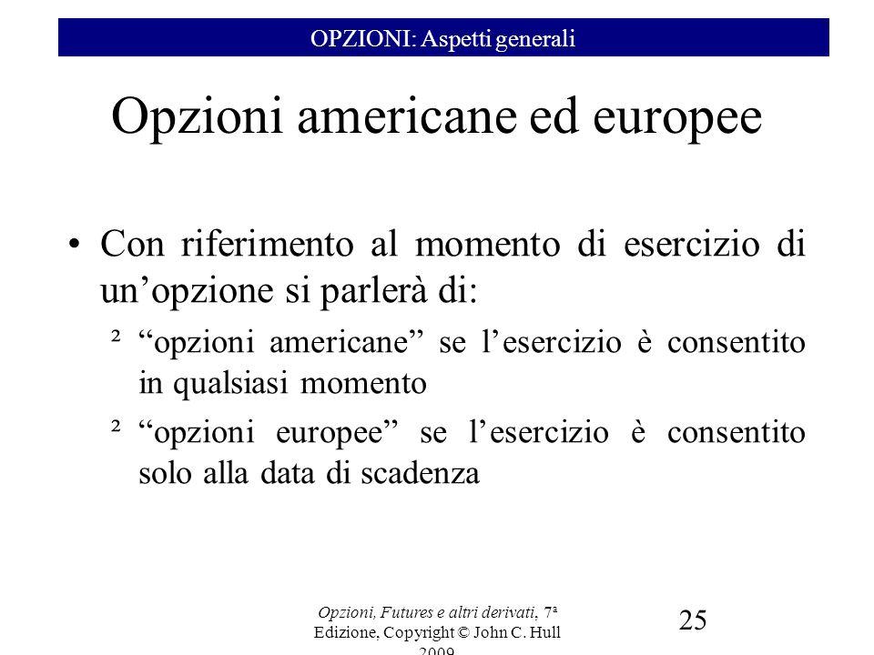Opzioni americane ed europee