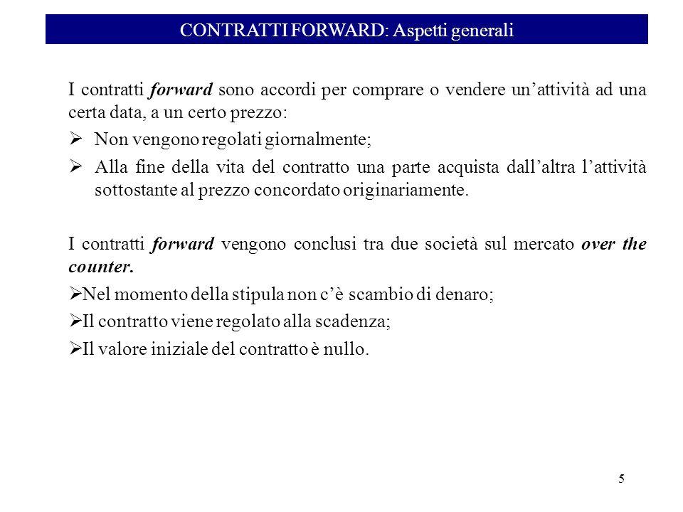 CONTRATTI FORWARD: Aspetti generali
