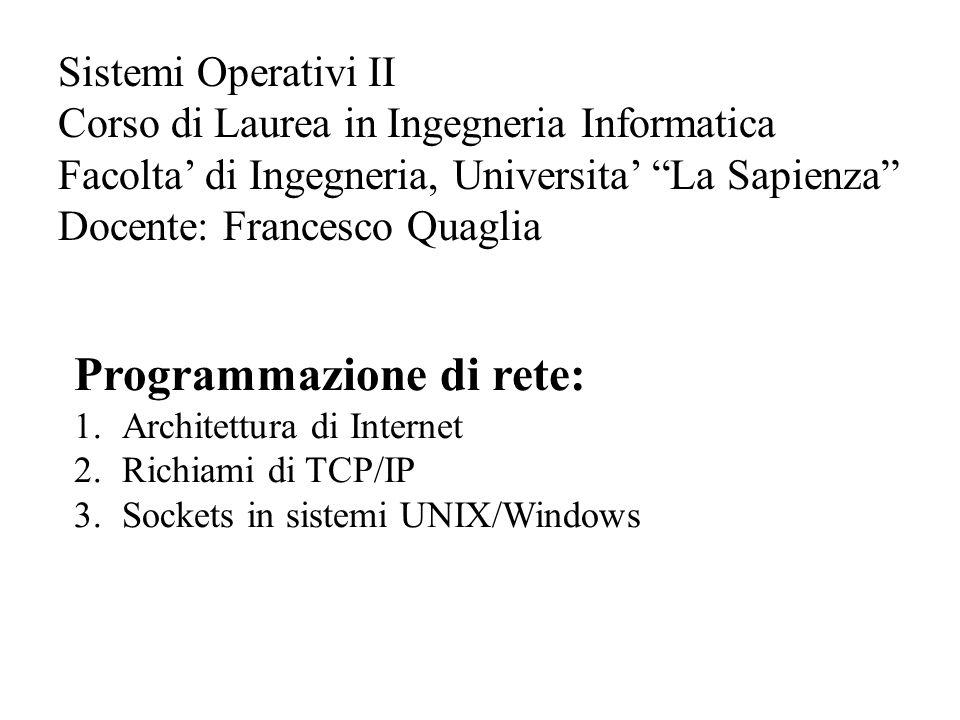 Programmazione di rete: