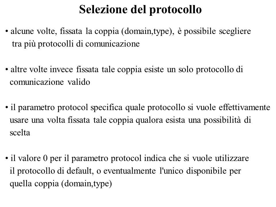 Selezione del protocollo
