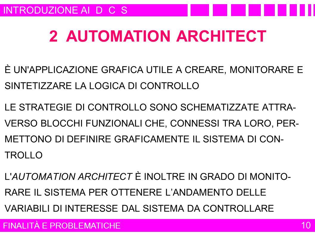 2 AUTOMATION ARCHITECT INTRODUZIONE AI D C S