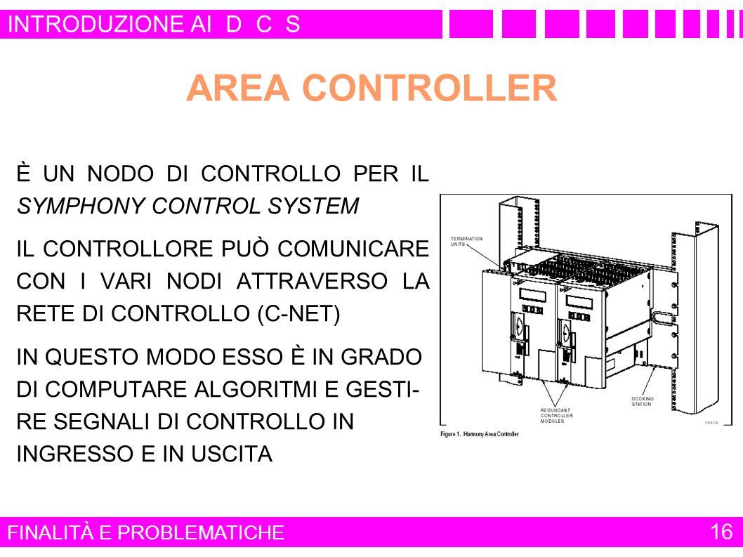 AREA CONTROLLER INTRODUZIONE AI D C S