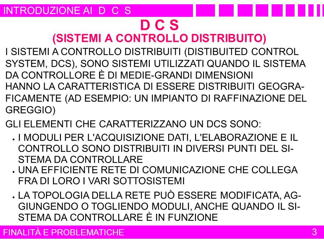 D C S (SISTEMI A CONTROLLO DISTRIBUITO)