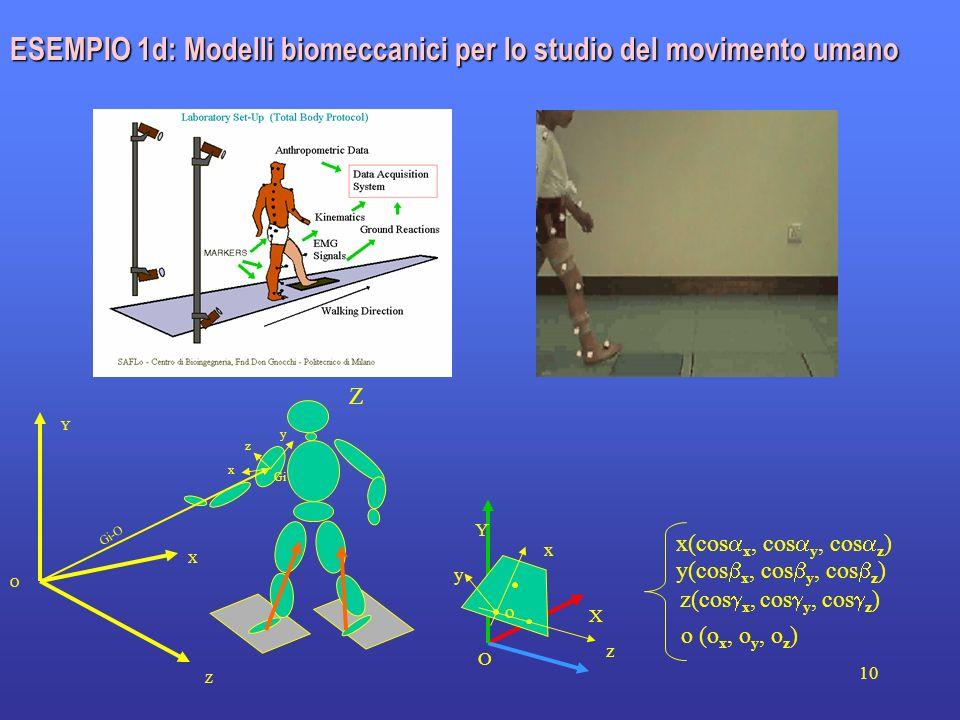 ESEMPIO 1d: Modelli biomeccanici per lo studio del movimento umano