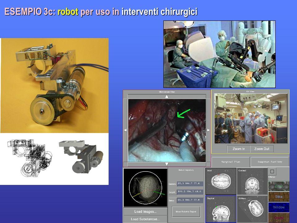 ESEMPIO 3c: robot per uso in interventi chirurgici
