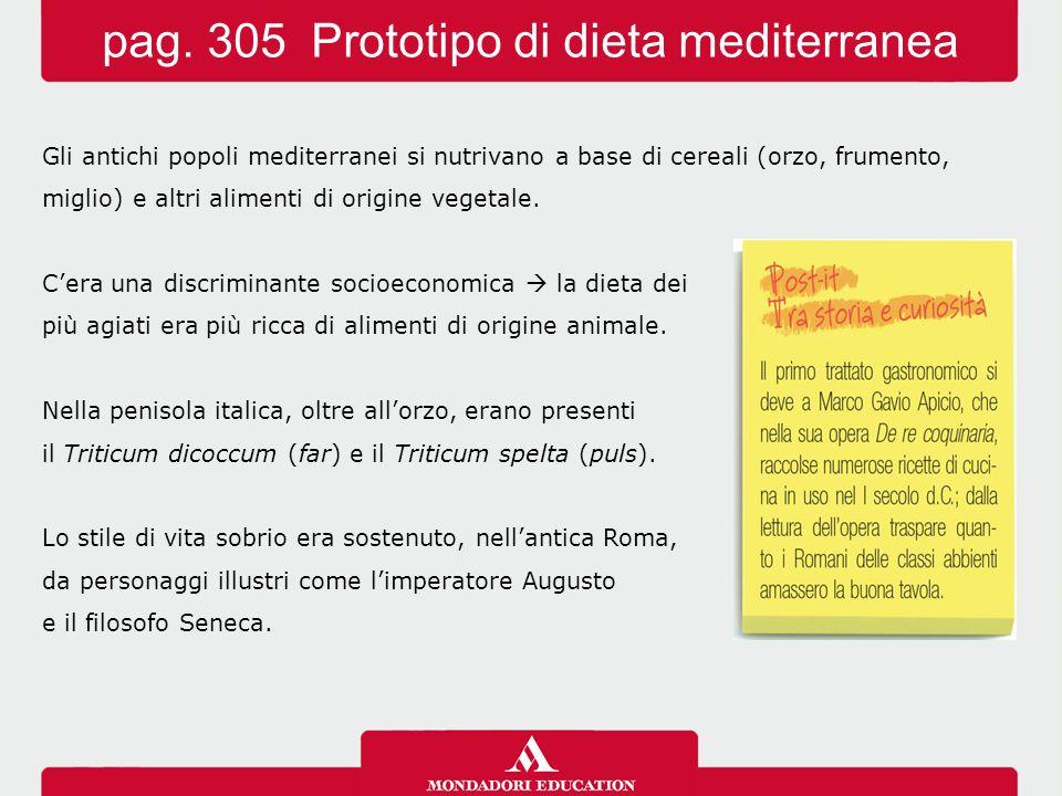 pag. 305 Prototipo di dieta mediterranea