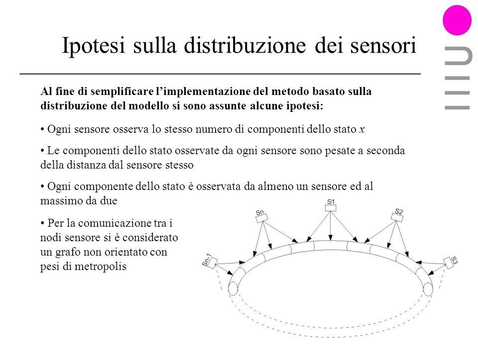 Ipotesi sulla distribuzione dei sensori