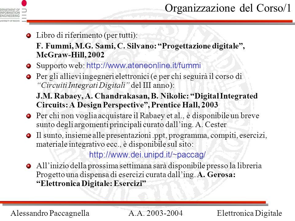 Organizzazione del Corso/1