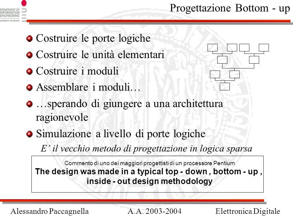 Progettazione Bottom - up