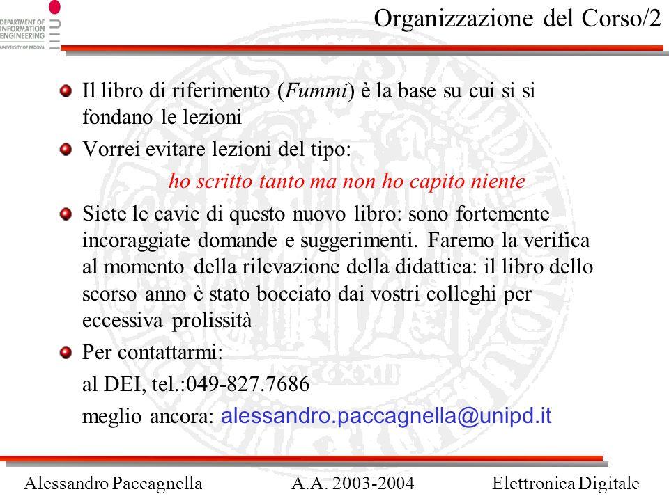 Organizzazione del Corso/2