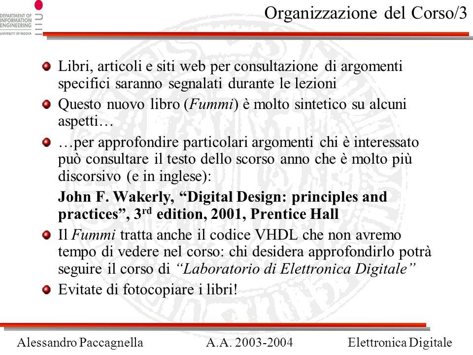 Organizzazione del Corso/3