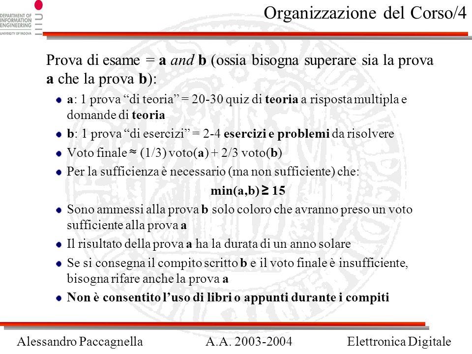 Organizzazione del Corso/4