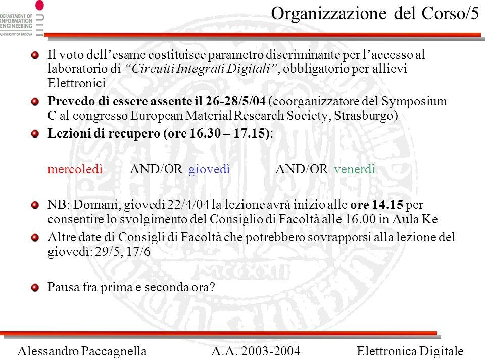 Organizzazione del Corso/5