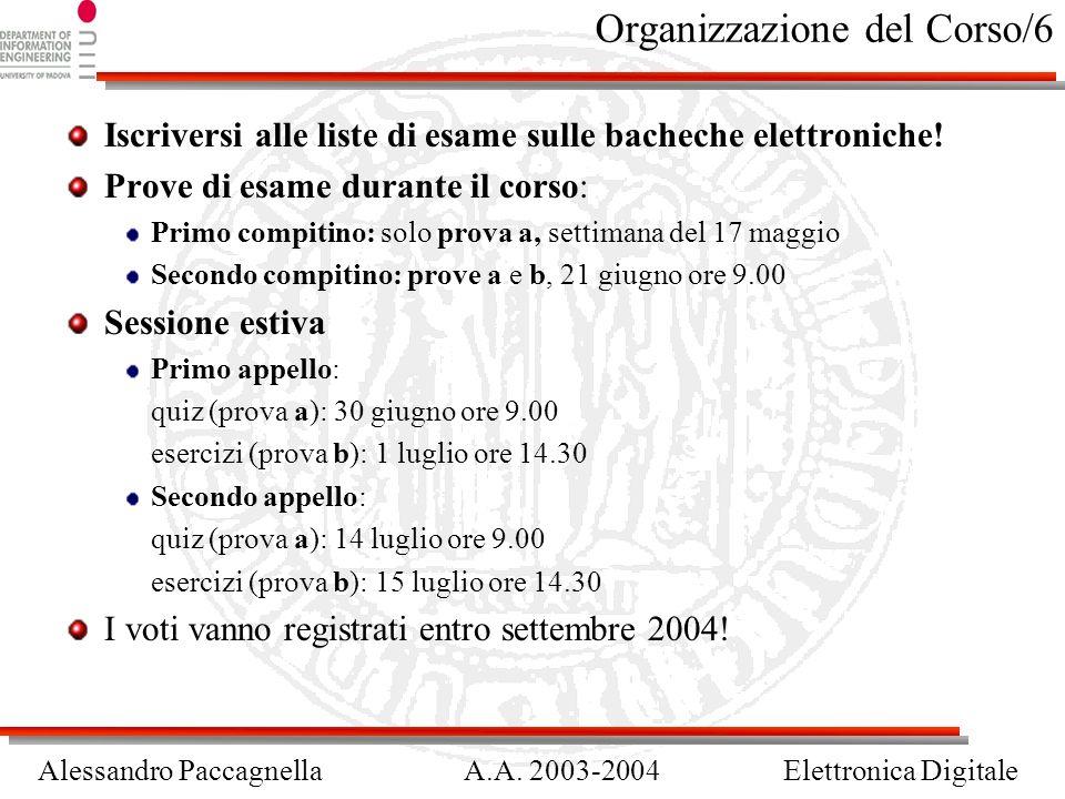Organizzazione del Corso/6