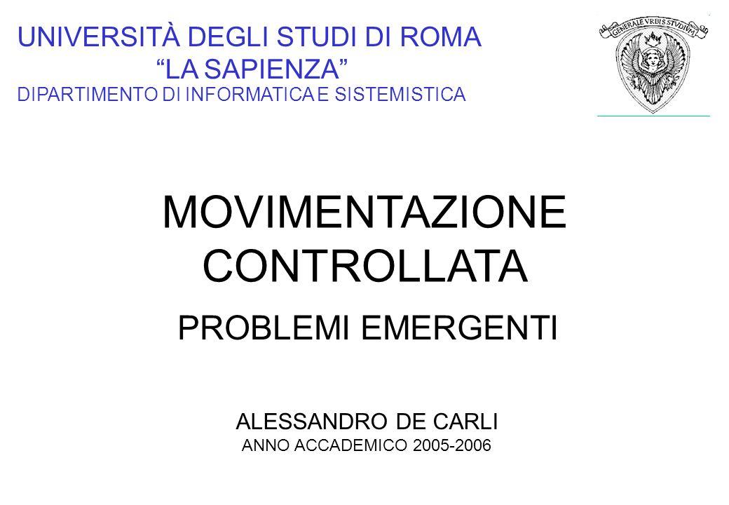 MOVIMENTAZIONE CONTROLLATA PROBLEMI EMERGENTI