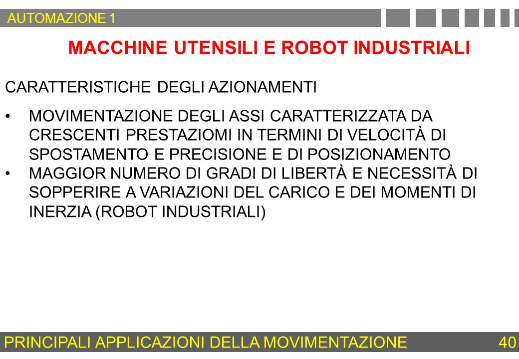 MACCHINE UTENSILI E ROBOT INDUSTRIALI