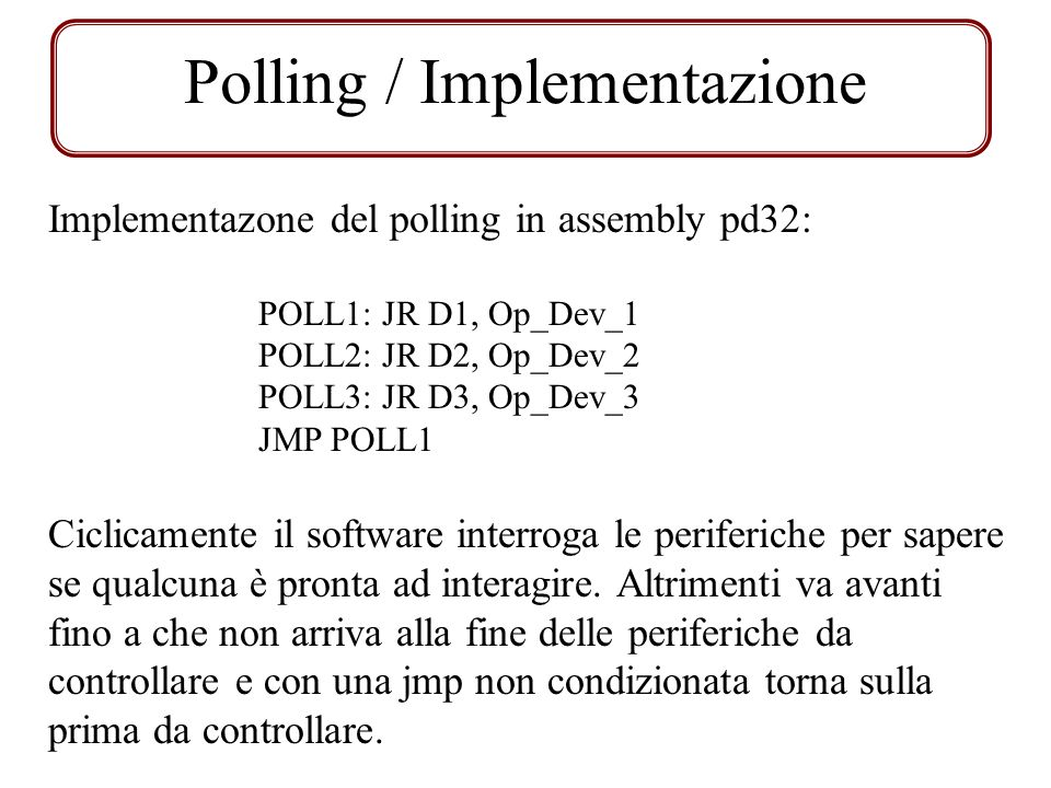 Polling / Implementazione