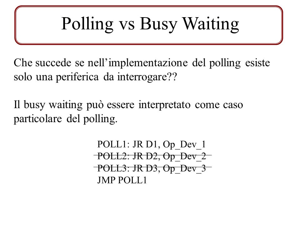 Polling vs Busy Waiting