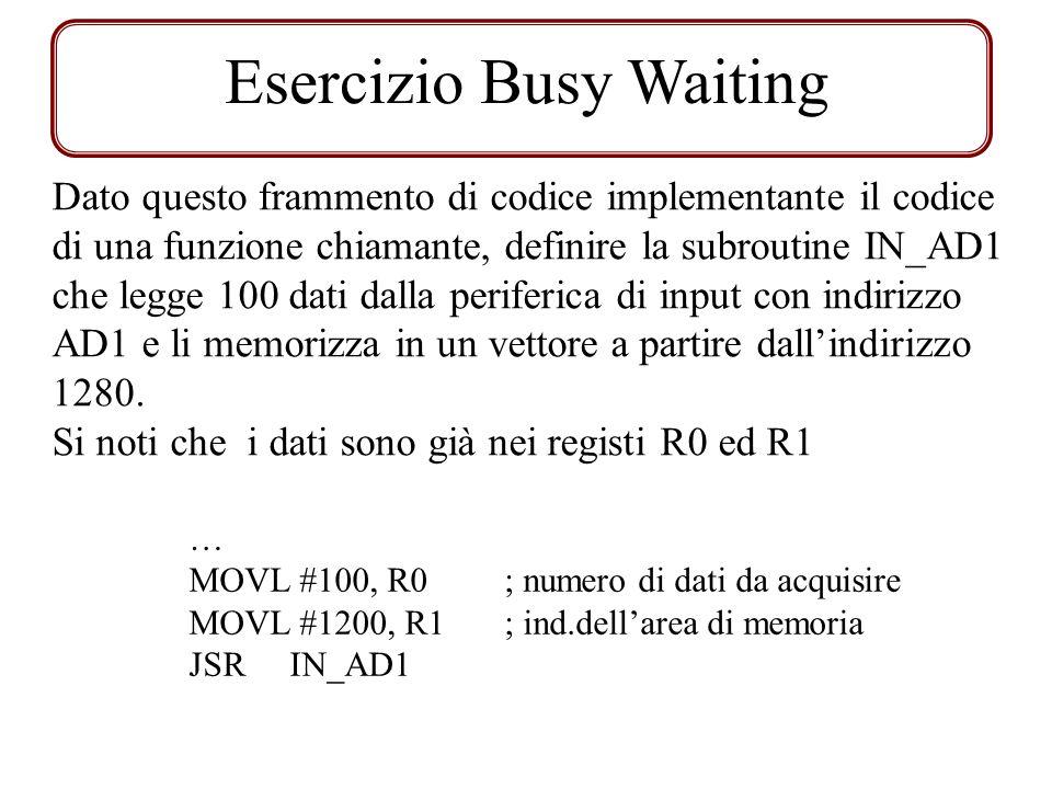 Esercizio Busy Waiting