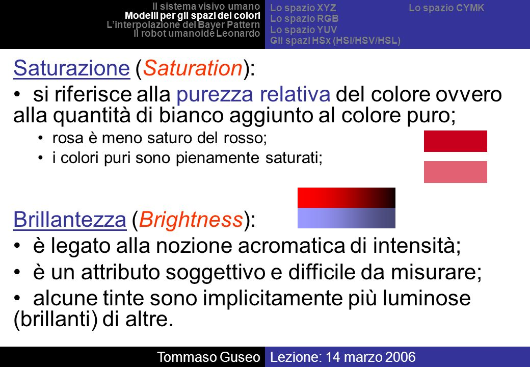 Saturazione (Saturation):