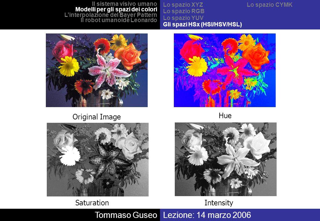 Tommaso Guseo Lezione: 14 marzo 2006 Original Image Hue Saturation