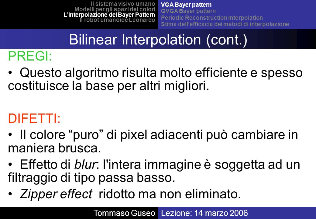 Bilinear Interpolation (cont.)