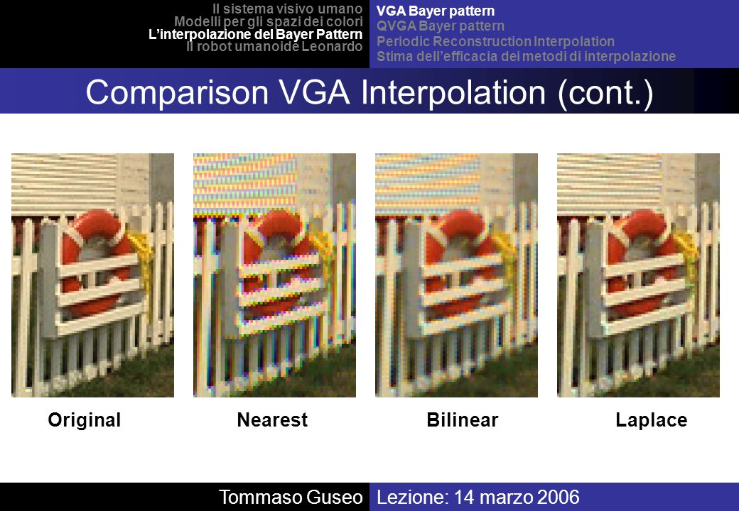 Comparison VGA Interpolation (cont.)