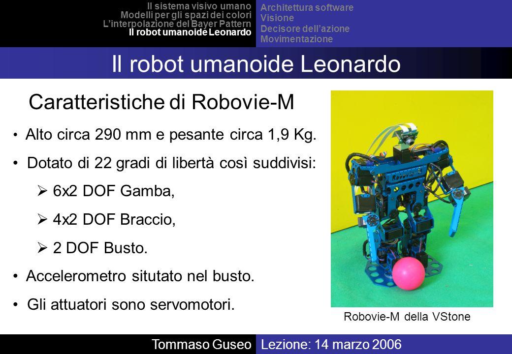 Il robot umanoide Leonardo