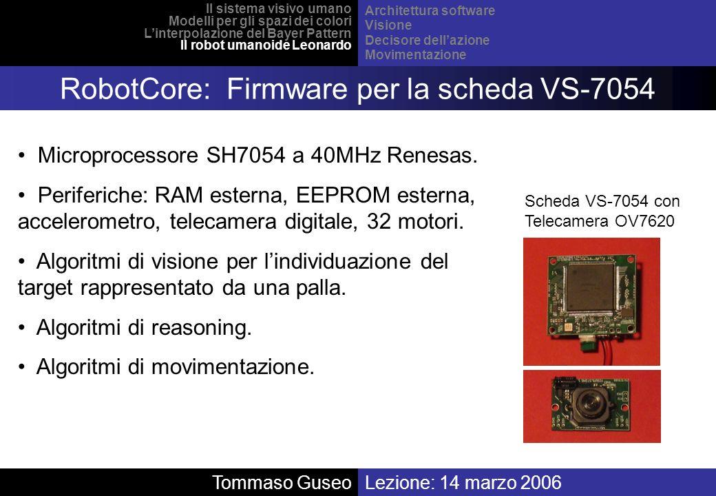 RobotCore: Firmware per la scheda VS-7054