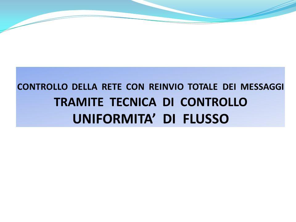 CONTROLLO DELLA RETE CON REINVIO TOTALE DEI MESSAGGI TRAMITE TECNICA DI CONTROLLO UNIFORMITA' DI FLUSSO