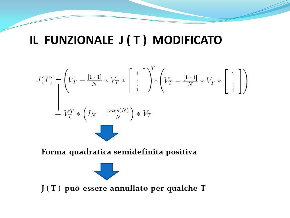 IL FUNZIONALE J ( T ) MODIFICATO