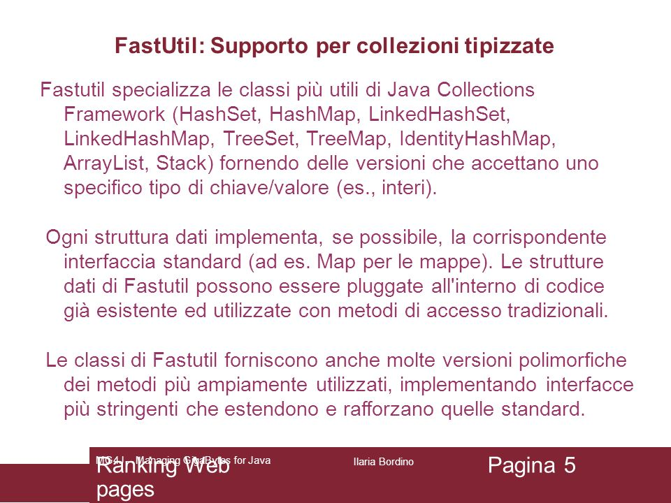 FastUtil: Supporto per collezioni tipizzate