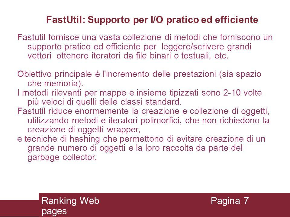 FastUtil: Supporto per I/O pratico ed efficiente