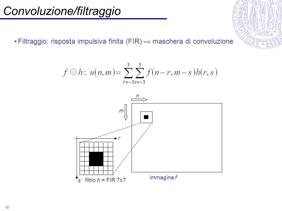 Convoluzione/filtraggio