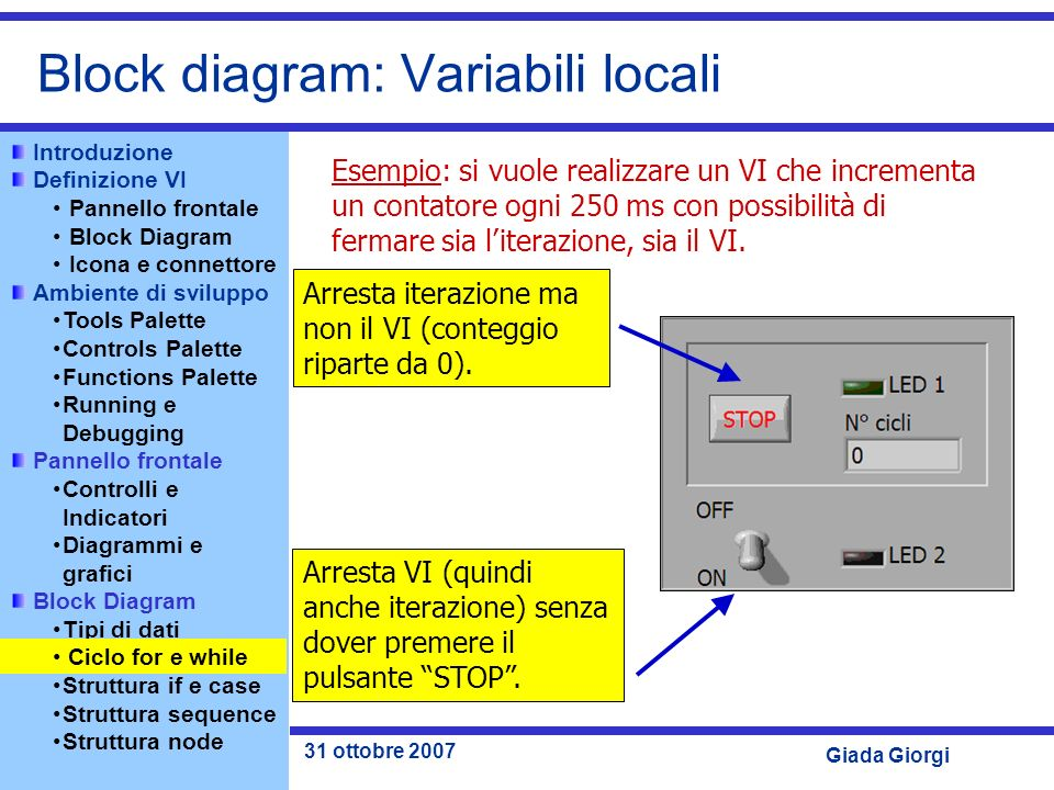 Block diagram: Variabili locali