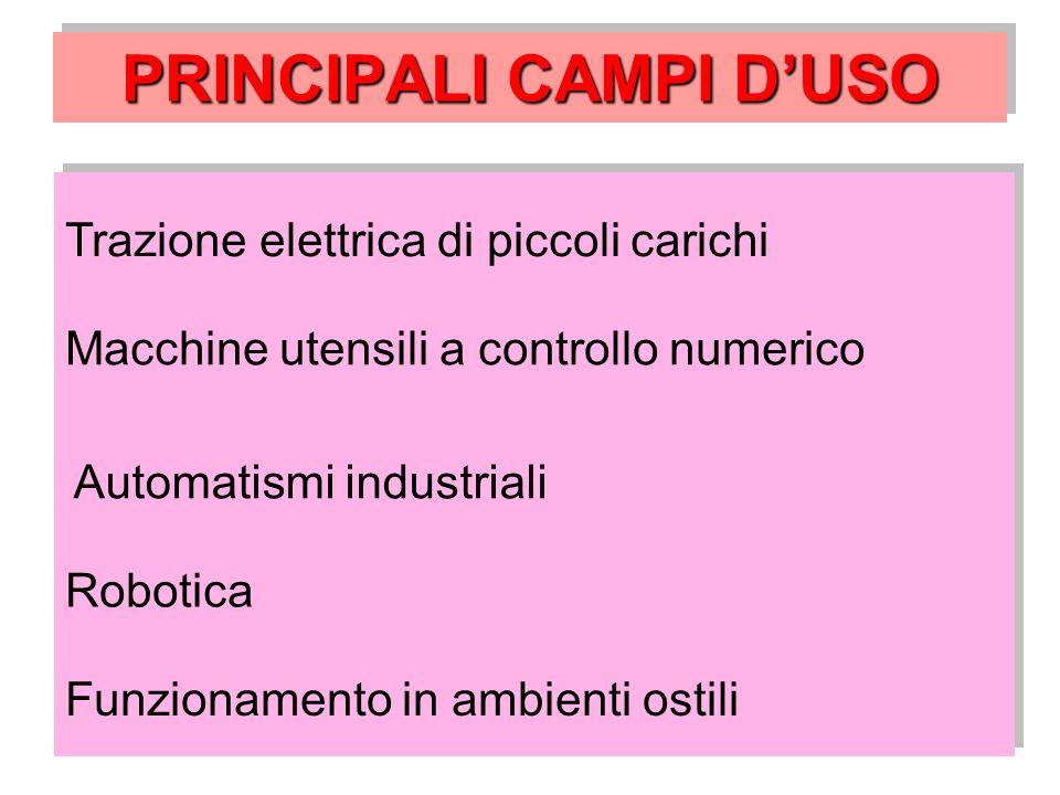 PRINCIPALI CAMPI D'USO