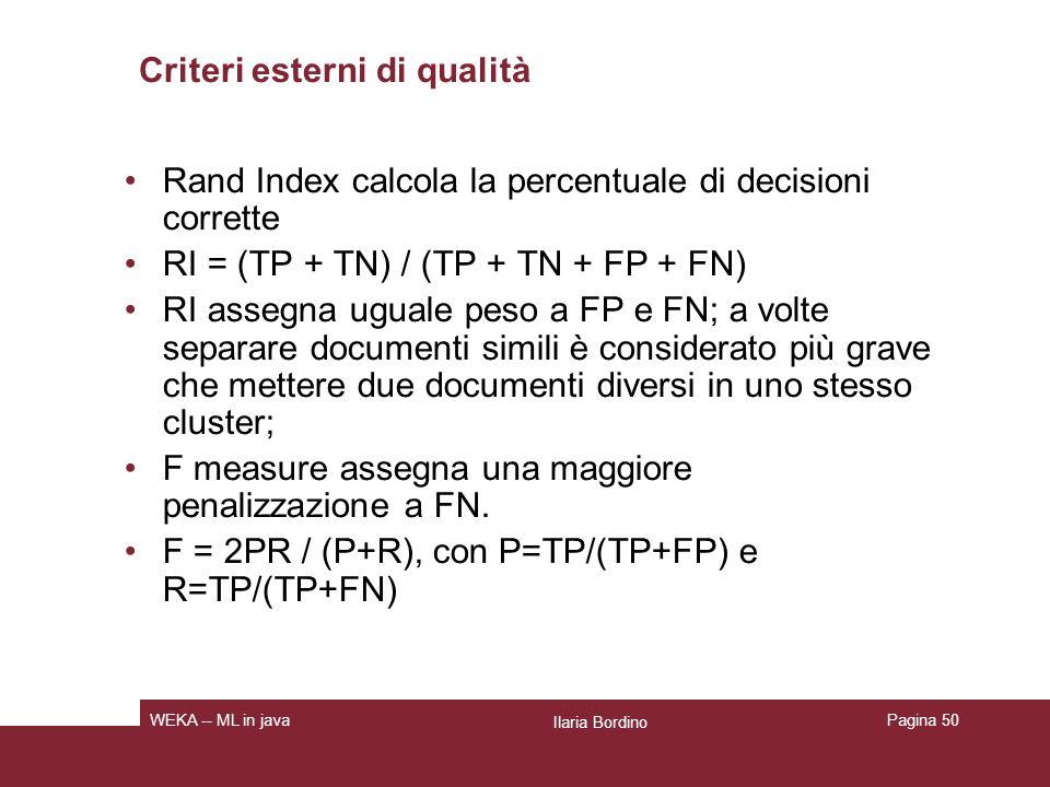 Criteri esterni di qualità